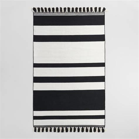black and white striped rug published at with black and