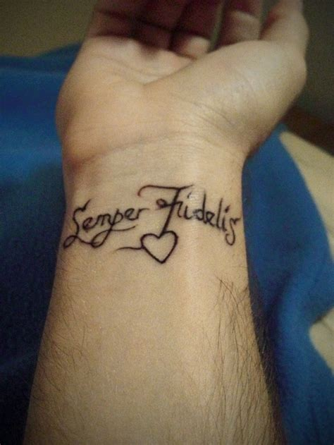 semper fi tattoos semper fidelis i would get this or something like