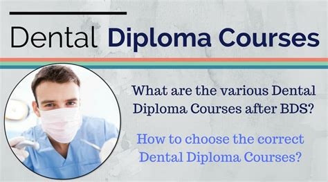 Mba Colleges After Bds by Dental Diploma Courses After Bds A Review