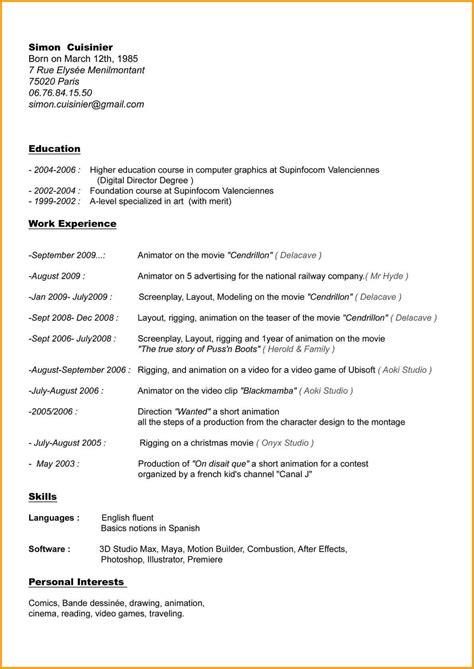 Modèle Lettre De Recommandation Cuisinier 4 Cv Cuisinier Lettre Administrative