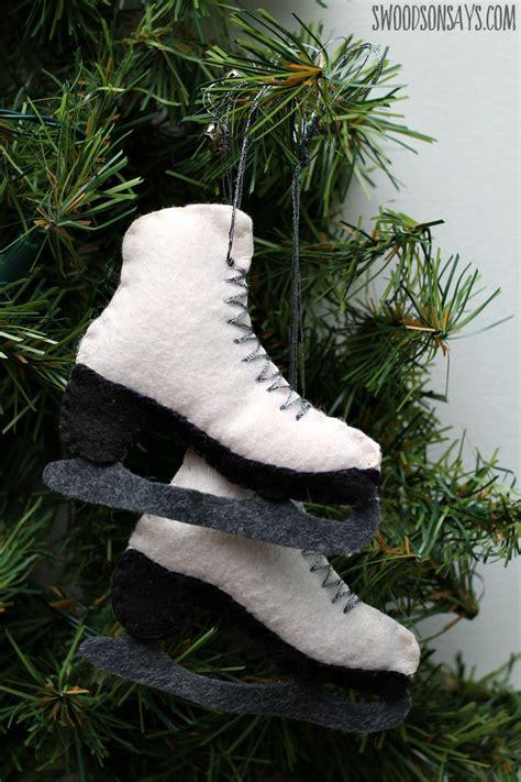 fun diy ice skate decorations  winter holidays