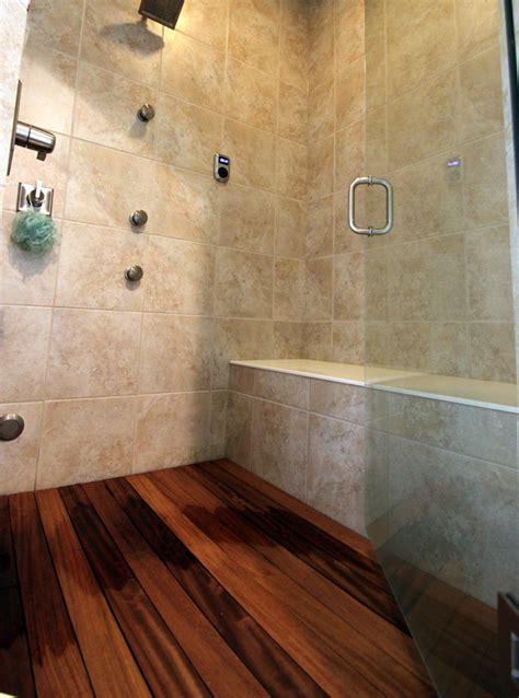 Teak Wood Shower Floor by Columbus Home Builders Home Builders Columbus Ohio Home