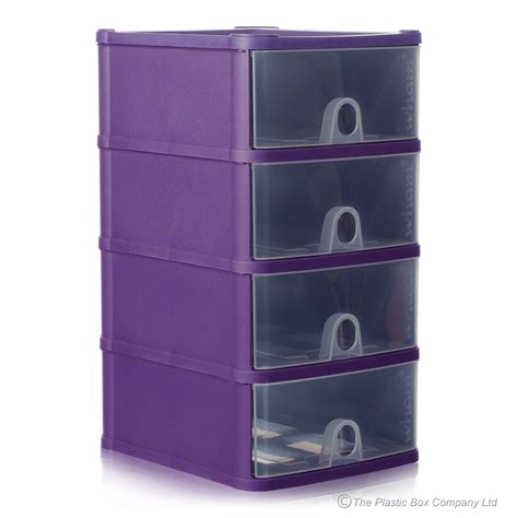 wham handy plastic stackable four 4 drawer unit a5 paper