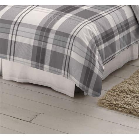 design port winton tartan plaid brushed cotton duvet cover dormisette grey check tartan 100 brushed cotton standard pillowcase dormisette from emporium