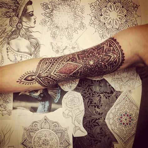 mandala tattoo red red and black mandala tattoo tattoomagz