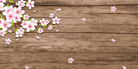 flores de cerezo sobre tabla de madera descargar papel