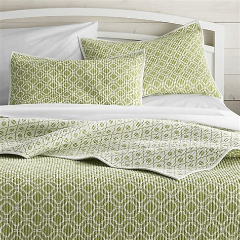 queen quilts and coverlets raj reversible green full queen quilt crate and barrel