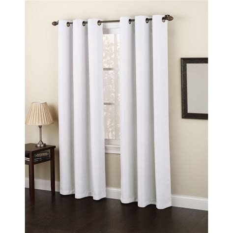 opaque white curtains semi opaque white no 918 casual montego woven grommet top