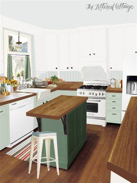 small kitchen makeovers casual cottage kitchen makeover inspiration for laura the lettered