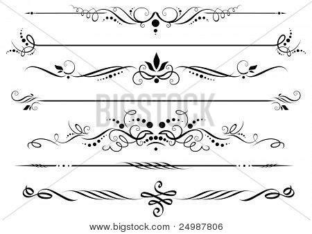 decorative line divider photoshop dividers borders vector photo bigstock