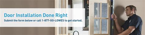 Lowes Door Installation by Door Installation Services From Lowe S