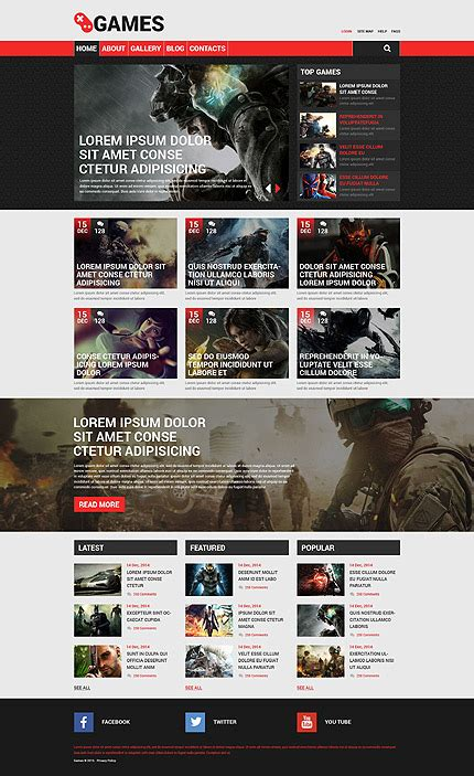 drupal themes gaming free games drupal template 53753 templates com