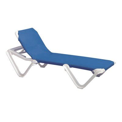 sling chaise lounge chairs grosfillex us910106 nautical adjustable sling chaise