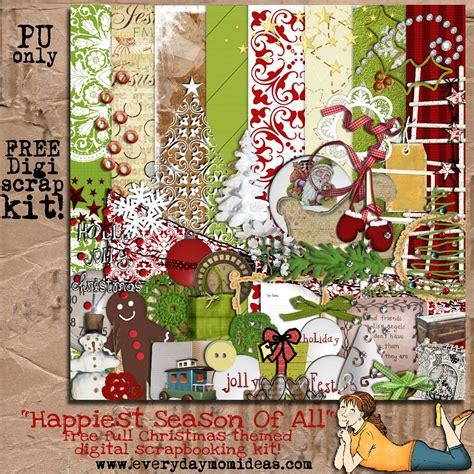 Digital Scrapbooking Free Downloads by Quot Happiest Season Of All Quot Free Digital Scrapbooking Kit