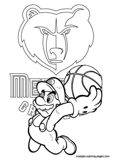 memphis grizzlies free colouring pages