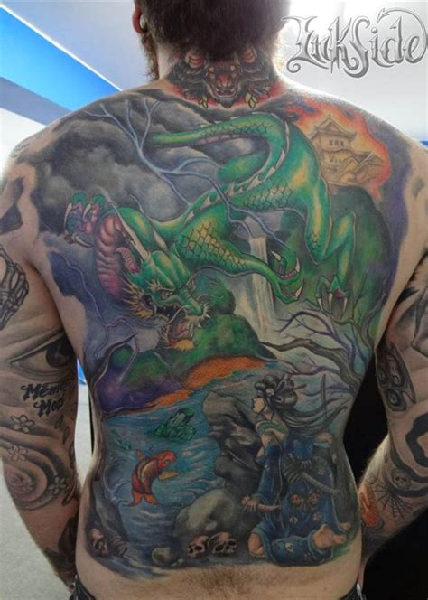 geisha tattoo back piece marcelo alvarez certified artist