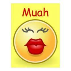 muah kiss postcard
