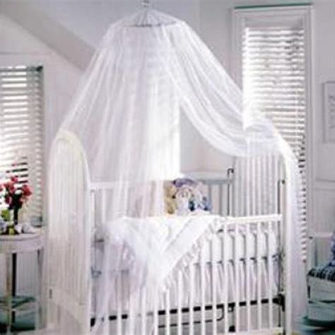 Canopy For Baby Crib Baby Mosquito Net Baby Toddler Bed Crib Canopy Netting White Ebay
