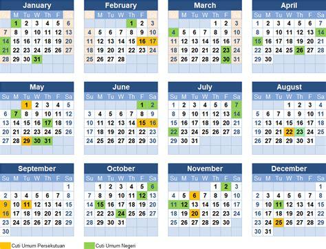 Kalender 2018 Malaysia Dan Cuti Umum Kalender Cuti Umum Dan Cuti Negeri Di Malaysia 2018