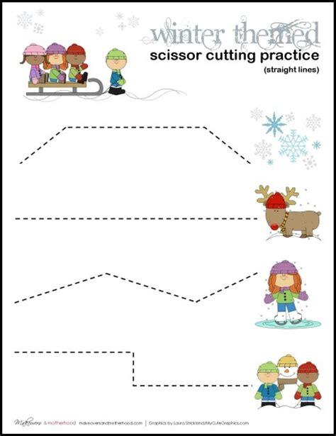 preschool scissor activities printable winter scissor cutting practice sheets printables