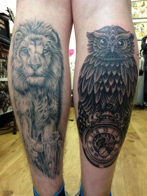 tattoo owl lion lion healed and owl pocket watch chic child tattoos