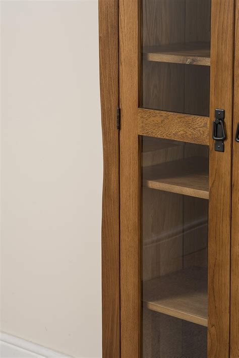 cotswold oak display cabinet modern furniture direct