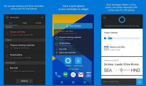 android cortana cortana for android updated with hey cortana support within the app mspoweruser