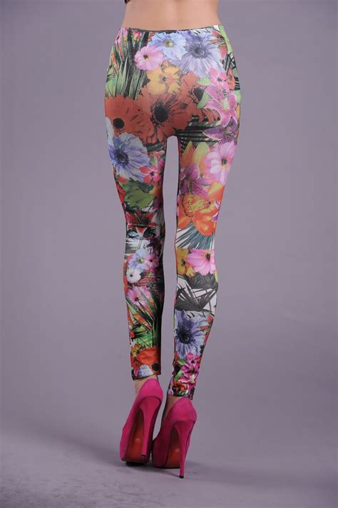 flower pattern jeggings fashion flower pattern legging l5167