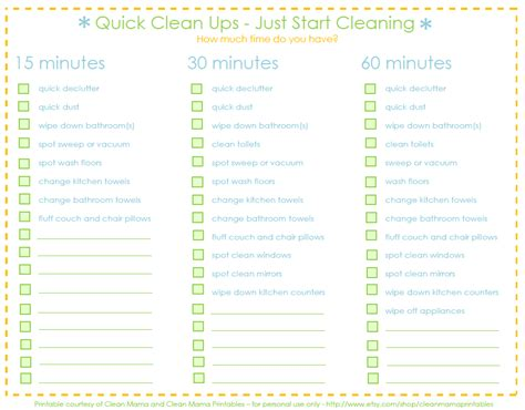 printable to do list for house cleaning quick clean ups with clean mama the idea room