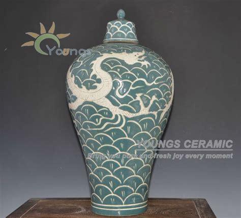vasi cinesi dinastia ming ming antico riproduzione cinese grande drago di porcellana