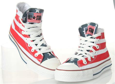 converse american flag sneakers american flag converse chuck all high top by