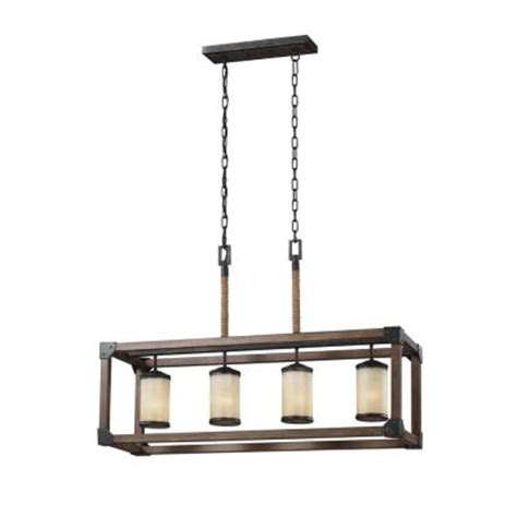 kitchen lighting home depot sea gull lighting dunning 4 light stardust and cerused oak
