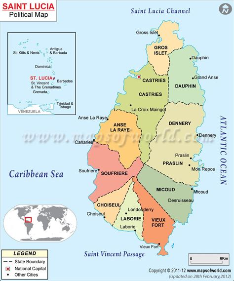 st map lucia map st lucia lucia and