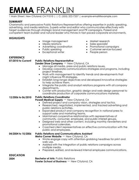 Pr Officer Sle Resume by Relations Resume Template Http Topresume Info Relations Resume Template