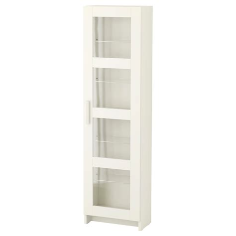 White Storage Cabinet With Glass Doors Brimnes Glass Door Cabinet White 39x142 Cm Ikea