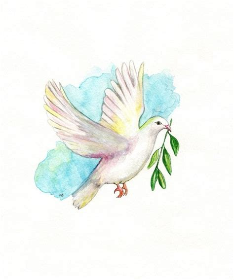 dove with olive branch tattoo dove with olive branch aqua blue archival by
