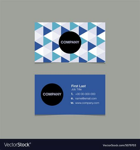 Simple Name Card Template by Simple Name Card Template Triangle Style Vector Image