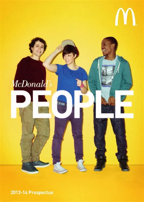 Mba Working At Mcdonalds by Mcdonald S 2013 14 Prospectus