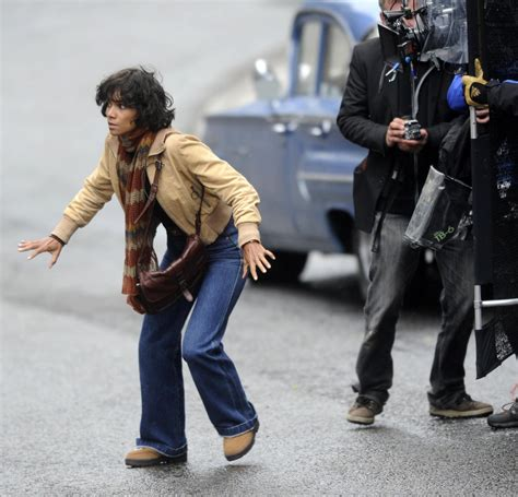 Halle Berry Warms Up by Halle Berry In Halle Berry On The Set Of Quot Cloud Atlas Quot In