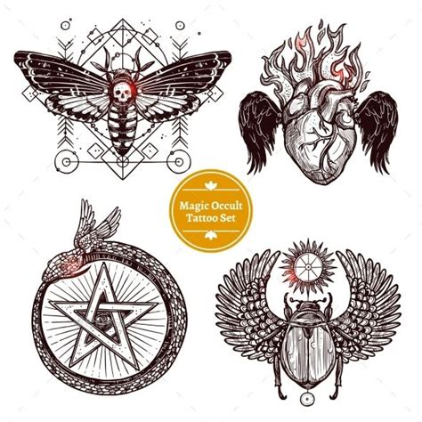 occult tattoo 177 best designs images on design