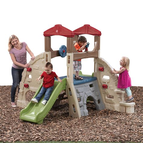 backyard climbing toys alpine ridge climber slide