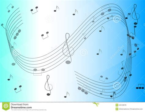 background design note music notes background stock photo image 42123676