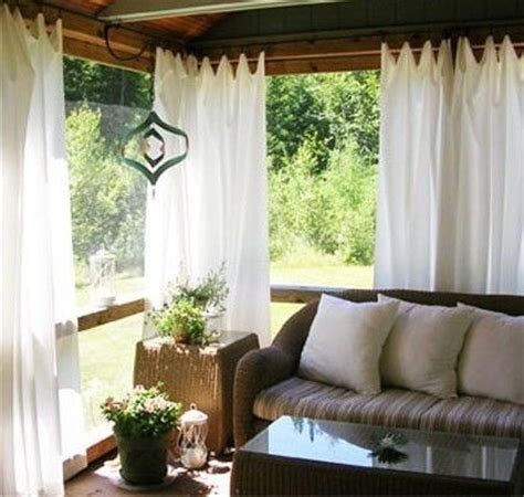 screened in porch curtains patio curtains great ideas pinterest