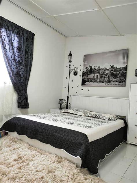 deko bilik tidur tema hitam putih rumah kebun  diy