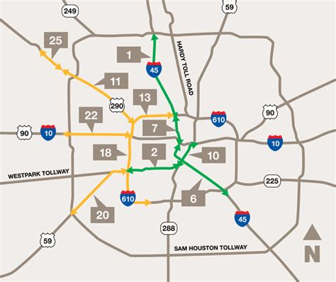houston map highways congestion problems mobility investment priorities