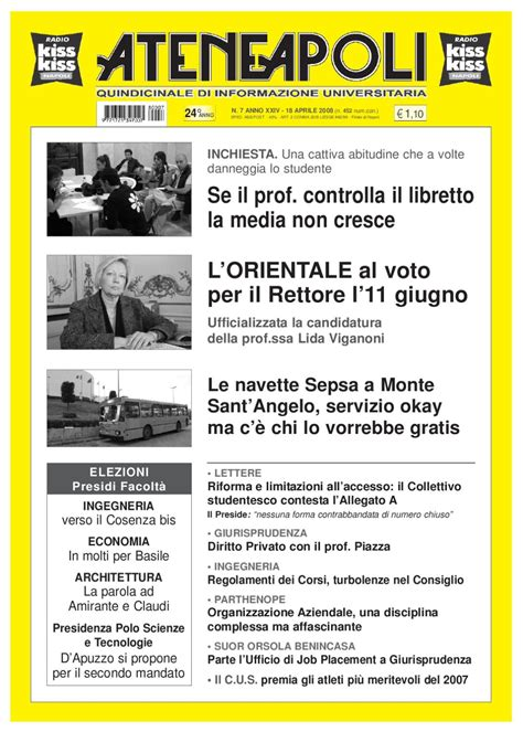 ufficio placement parthenope ateneapoli n 176 07 2008 by gennaro varriale issuu