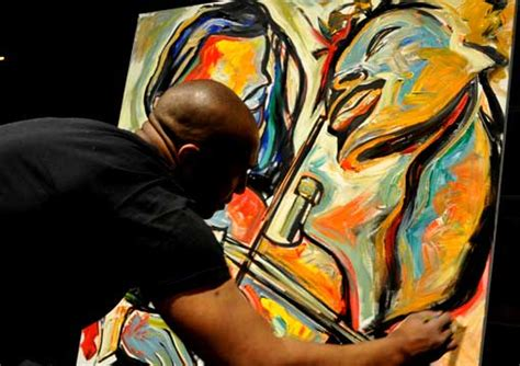 corey barksdale  event painting  event artist