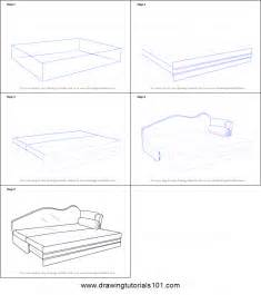 How To Draw A Bedroom Step By Step by How To Draw Sofa Bed Printable Step By Step Drawing