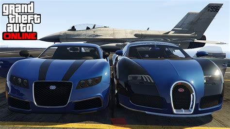 gta v vs real bugatti veyron vs truffade adder