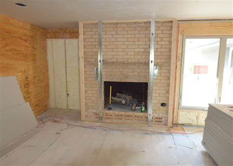 Drywall Brick Fireplace by Hanging Drywall Day 3 Leonhouse
